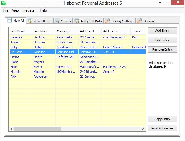 1-abc.net Personal Addresses Screen shot